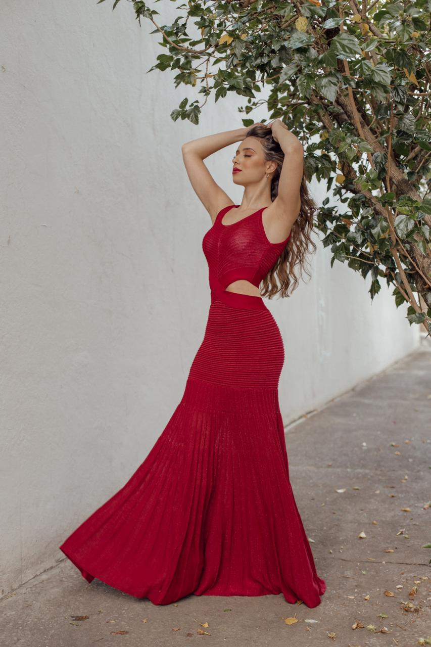 Vestido longo glamour