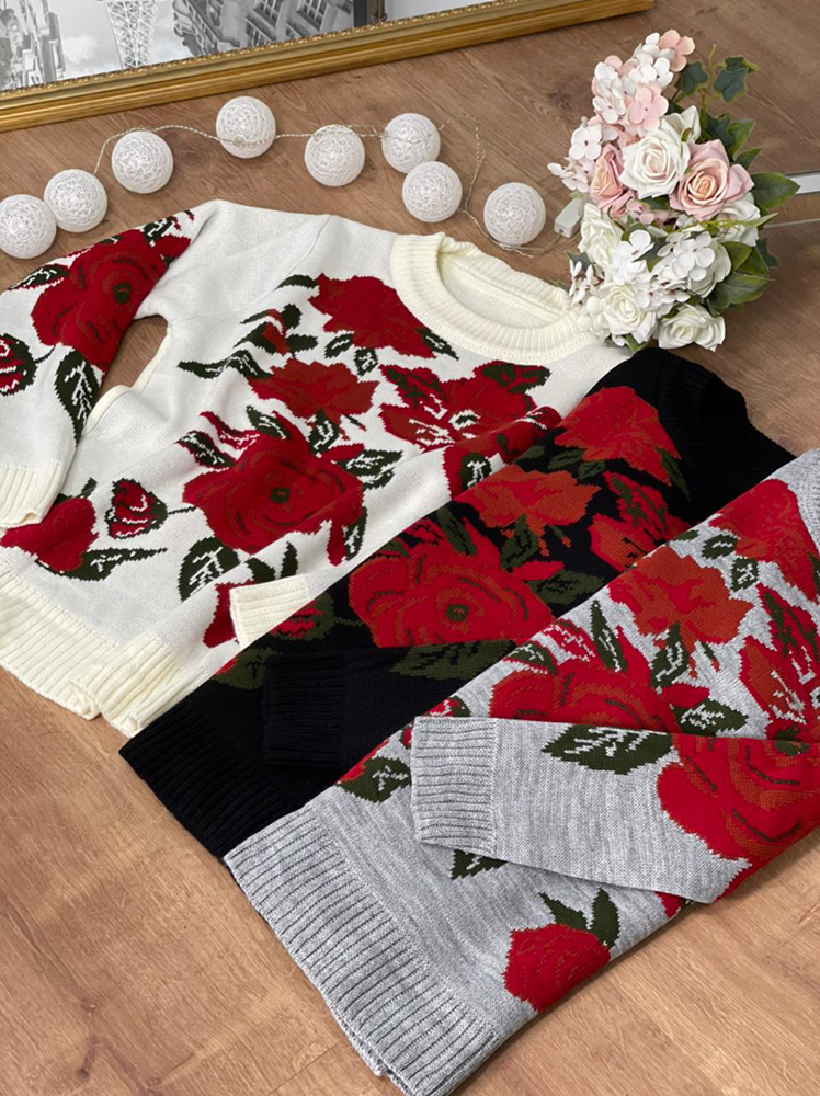 Bl Marjory - floral jacquard